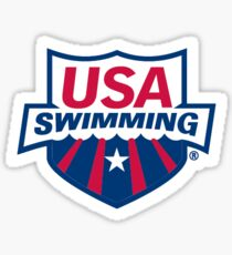 USA swiming Sticker