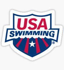 Pegatina Estados Unidos nadando