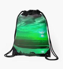 Maine Dawn Abstract Drawstring Bag