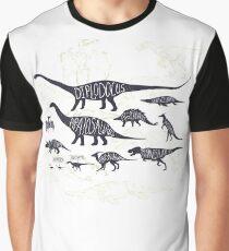 Assorted Dinosaurier Design Grafik T-Shirt