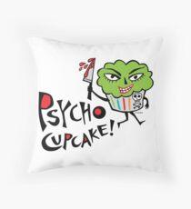 Psycho Cupcake  Throw Pillow