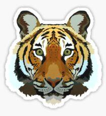 Malayan Tiger Illustration Sticker