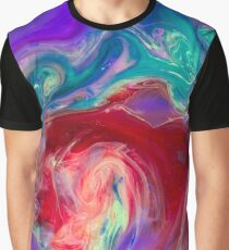 A Shiny Yellow Pale and A Red Turquise Deep In Violet flow Graphic T-Shirt
