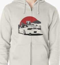 Nissan 180sx 240sx Best Shirt Design Zipped Hoodie