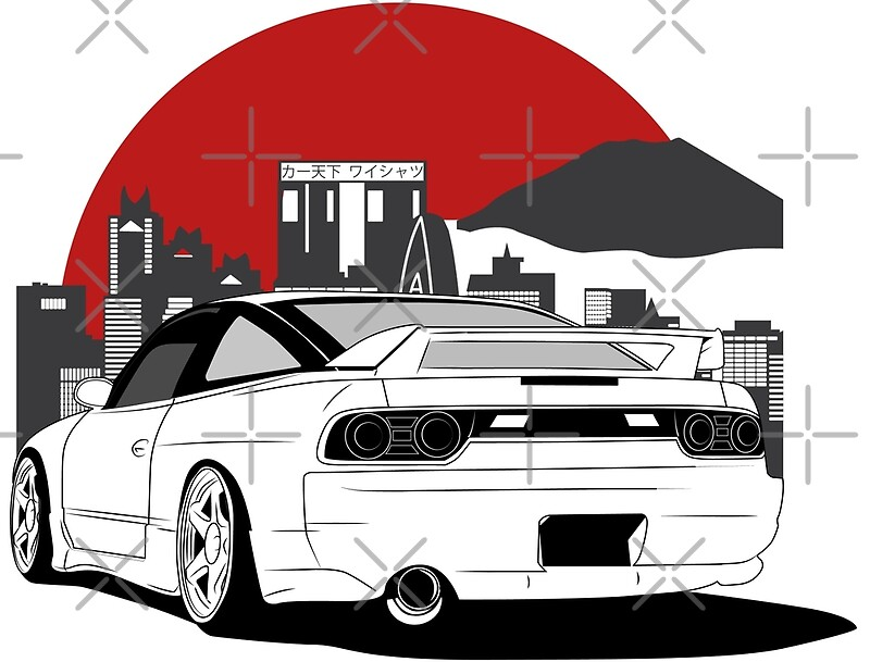 Nissan 180sx 240sx best shirt design posters by carworld for Home decor s13 9ad