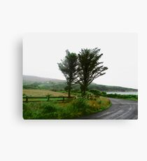 Wet road, Donegal, Ireland Canvas Print