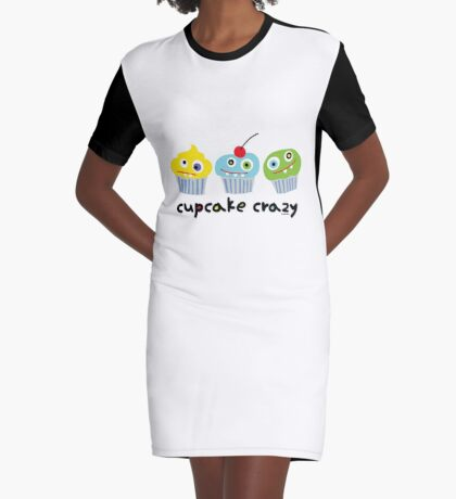 Cupcake Crazy  Graphic T-Shirt Dress