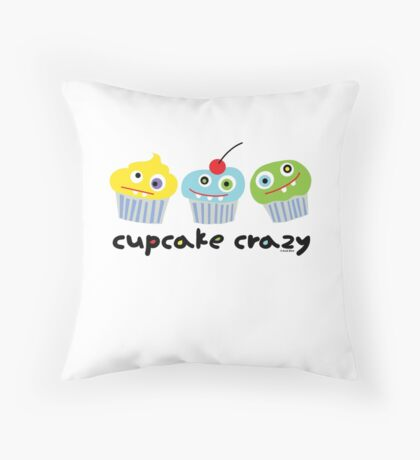 Cupcake Crazy  Throw Pillow