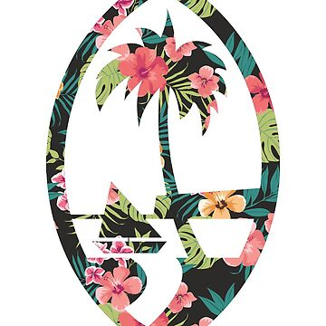 Guam Seal - Floral by personalitee