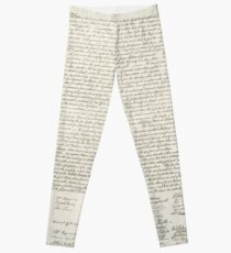 United States Declaration of Independance - From Stone Engraving Leggings