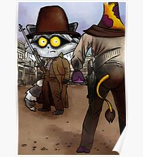 Raccoon Madness Game -  Back to the future theme Poster