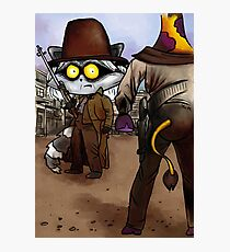 Raccoon Madness Game -  Back to the future theme Photographic Print