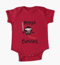 Ninja Cupcake   One Piece - Short Sleeve