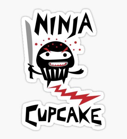 Ninja Cupcake   Sticker