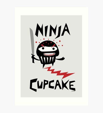 Ninja Cupcake   Art Print