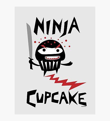 Ninja Cupcake   Photographic Print