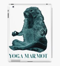 Yoga Marmot iPad Case/Skin