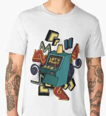 Retro arcade game machine. Men's Premium T-Shirt