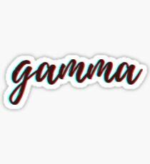 retro 3D - gamma Sticker