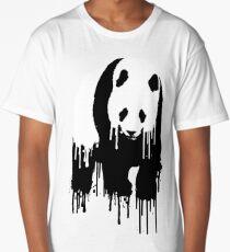 Paint Drip Panda Long T-Shirt