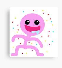 Pink little man Canvas Print