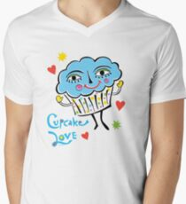 Cupcake Love Mens V-Neck T-Shirt