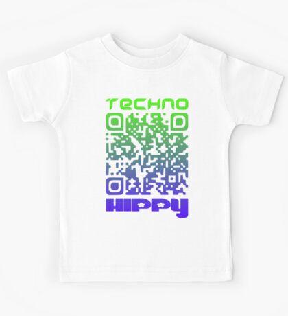 QR Code Technohippy Logo V2 Kids Clothes
