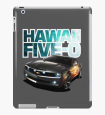 Hawaii Five-O Black Camaro (White Outline) iPad Case/Skin