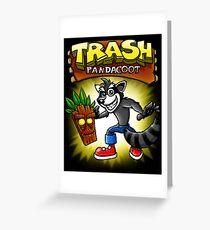 Trash Pandacoot Greeting Card