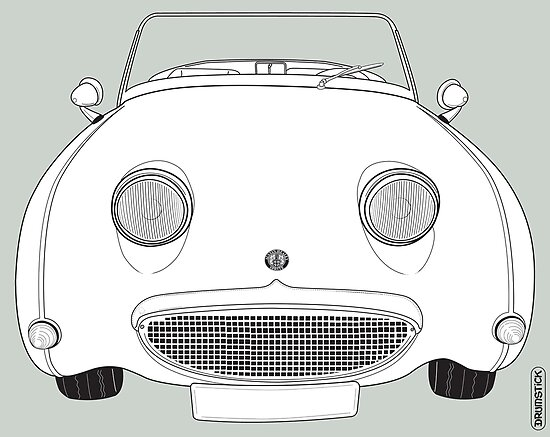 Austin-Healey Sprite Vintage Car by thedrumstick