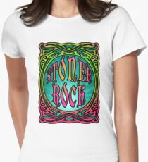 STONER ROCK - bright no leaf Womens Fitted T-Shirt