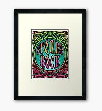 STONER ROCK - bright no leaf Framed Print