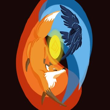 The fox and the crow by Waterdrain
