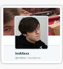 ImAllexx Follows You Sticker