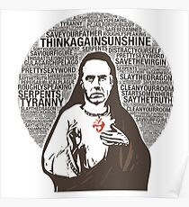 Sacred Heart of Professor Peterson Poster