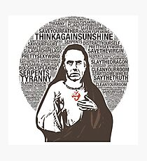 Sacred Heart of Professor Peterson Photographic Print