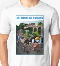 TOUR DE FRANCE: Vintage Bike Racing Print T-Shirt