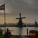 Windmills of Amsterdam (9) by Larry Lingard-Davis