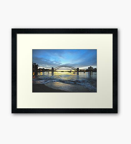 Glory - Moods Of A City - The HDR SeriesSydney Harbour, Sydney Australia Framed Print