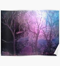 Forest at Night Poster