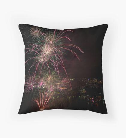 Brisbane Riverfire Throw Pillow