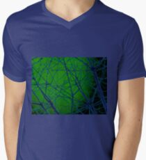 Colorful Blue and Green Bough Design T-Shirt