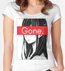 Gone Anime Aesthetic Women's Fitted Scoop T-Shirt