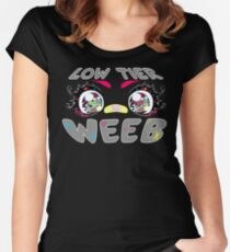 Low Tier Weeb CMYK Women's Fitted Scoop T-Shirt