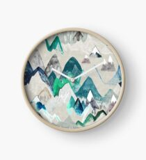 Call of the Mountains (in evergreen)  Clock
