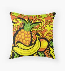 vivid tropical still life Throw Pillow