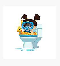 Baby Us: Toilet Girl Photographic Print