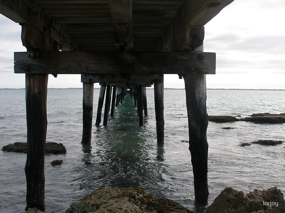 under the pier by lorjoy