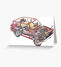 Range Rover Classic Cutaway Greeting Card