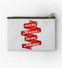 """More Huns, Less Nuns"" Studio Pouch"